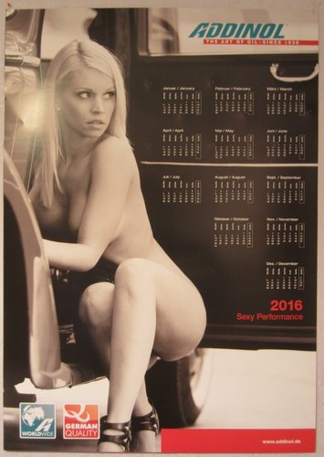 ADDINOL Girl Kalender 2016